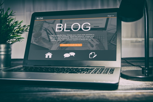 Blogs are an example of online content.
